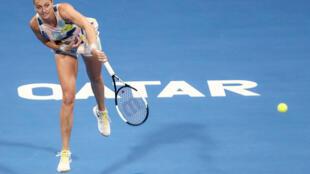 Petra Kvitova lors de la finale du tournoi de Doha le 29 février 2020