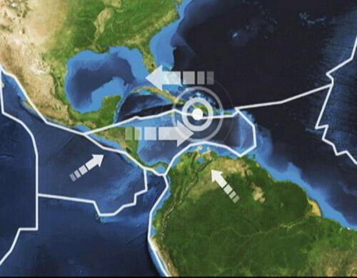 Le séisme est le résultat de l'affrontement de deux plaques tectoniques en mouvement.
