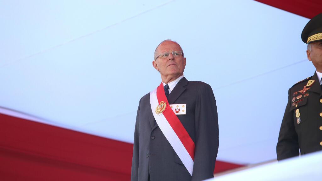 El presidente peruano Pedro Pablo Kuczynski durante una ceremonia militar en Lima, el 14 de diciembre del 2017.