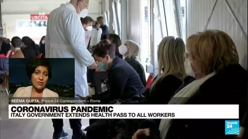 2021-09-17 09:43 Italy requires Covid-19 pass for all workers from October 15