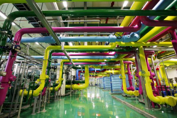 Une vue de l'intérieur du data center Google de Changhua, à Taïwan.