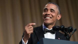 Barack Obama, samedi 30 avril 2016 à Washington, lors du dîner des correspondants à la Maison Blanche.