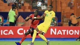 لقطة من مباراة أوغندا وزيمبابوي 26 يونيو/حزيران 2019.