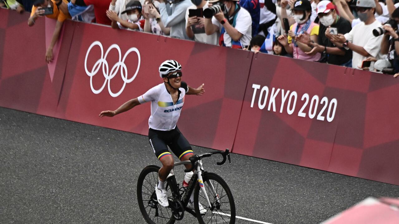 Image Carapaz trumps Pogacar in Olympic road race to win rare Ecuador gold