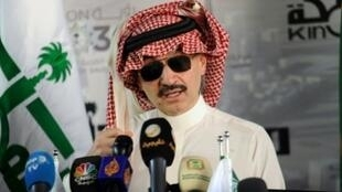الأمير الوليد بن طلال، في مؤتمر صحفي عقد في 11 مايو 2017 في جدة