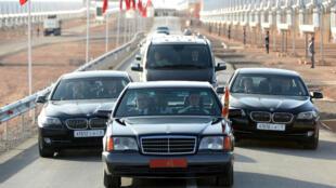 Le convoi royal lors d'un déplacement à Ouarzazate, le 4 février 2016.