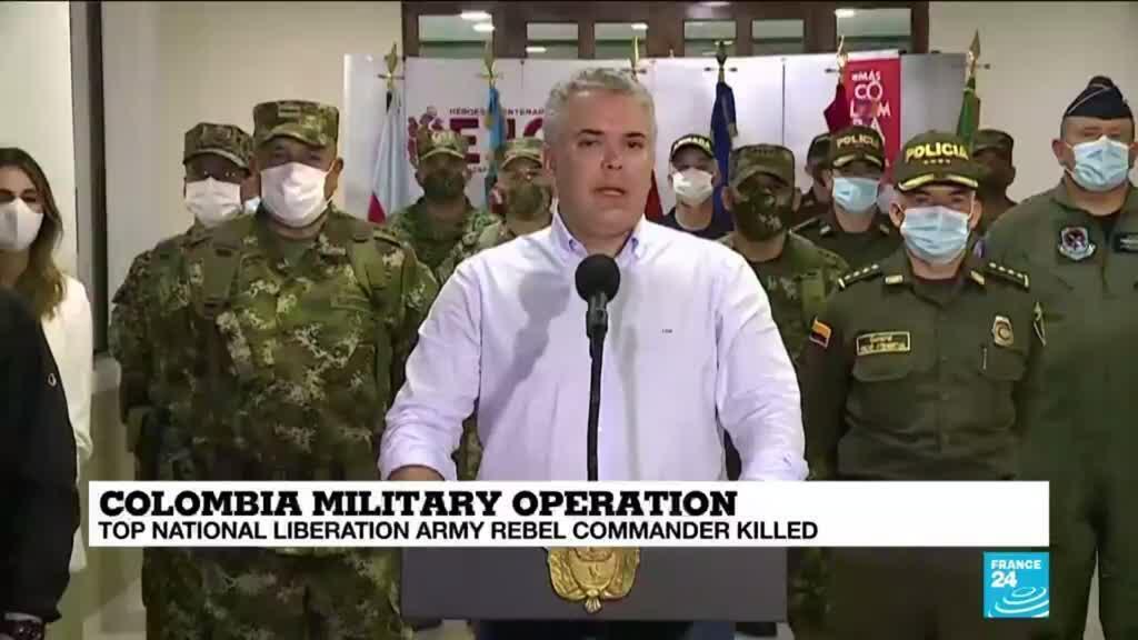 2020-10-26 10:12 Colombia kills top ELN guerrilla commander
