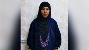 Fotografía de Rasmiya Awad, quien se cree es la hermana del fallecido dirigente del autodenominado Estado Islámico, Abu Bakr al-Baghdadi. La fotografía proporcionada por funcionarios de seguridad turca no registra fecha ni lugar específico.