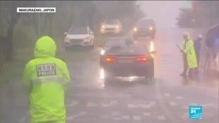 2020-09-07 13:12 Typhon Haishen : après le Japon, les vents violents arrivent en Corée du Sud
