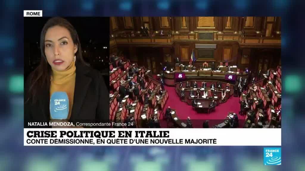 2021-01-26 18:18 Crise politique en Italie : G. Conte démissionne, le gouvernement en quête d'une nouvelle majorité
