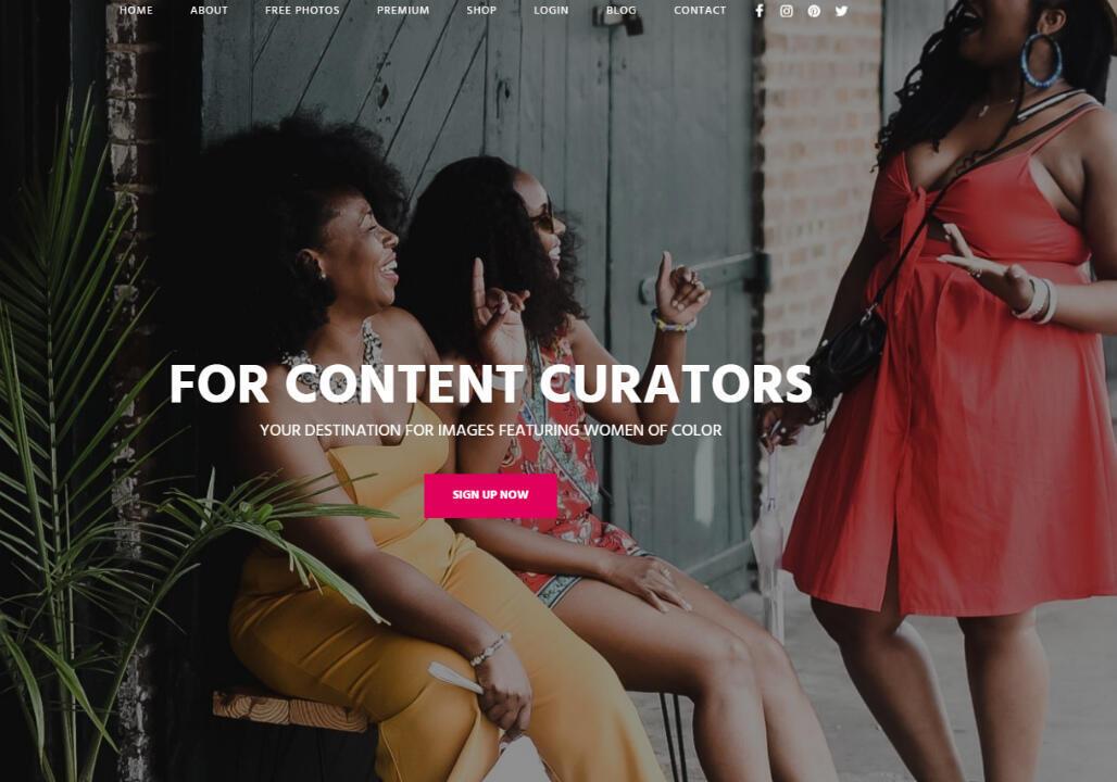 Capture d'écran de la page d'accueil de CreateHER.