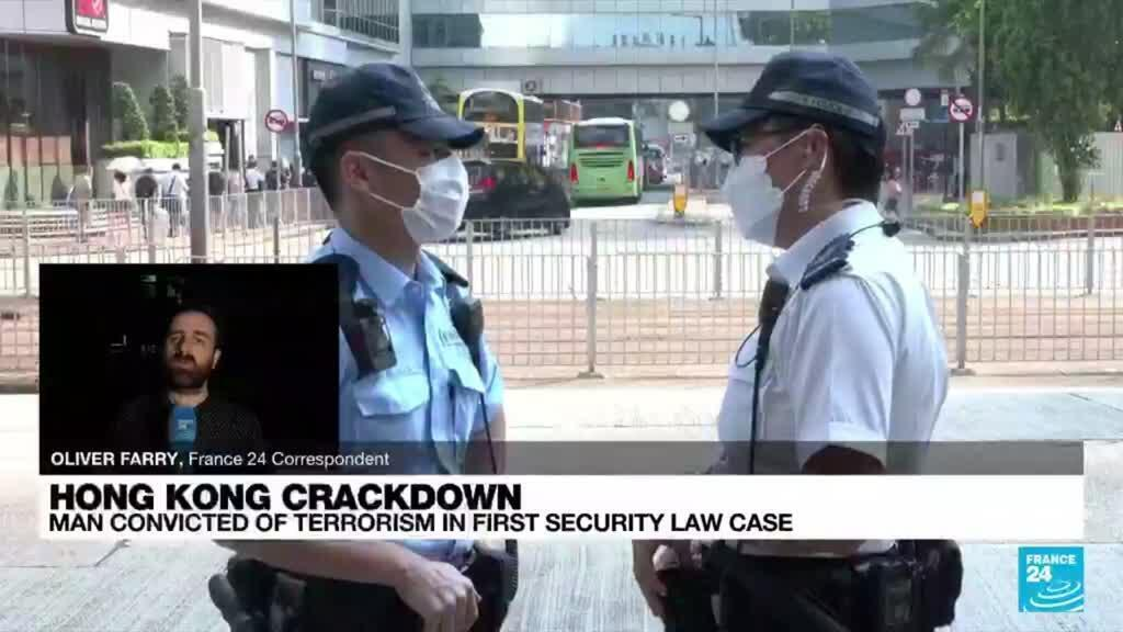 2021-07-27 17:12 Hong Kong court convicts man in first national security trial