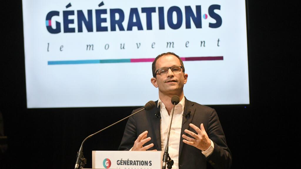 Benoît Hamon, le 2 décembre 2017, lors du congrès fondateur de Génération.s au Mans.