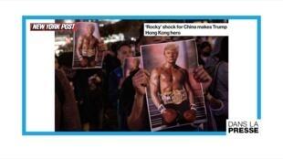 """""""Rocky Trump"""" ou """"le héros de Hong Kong"""""""