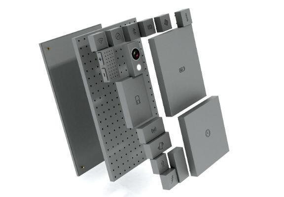 Prototype du Phonebloks et ses différents modules.