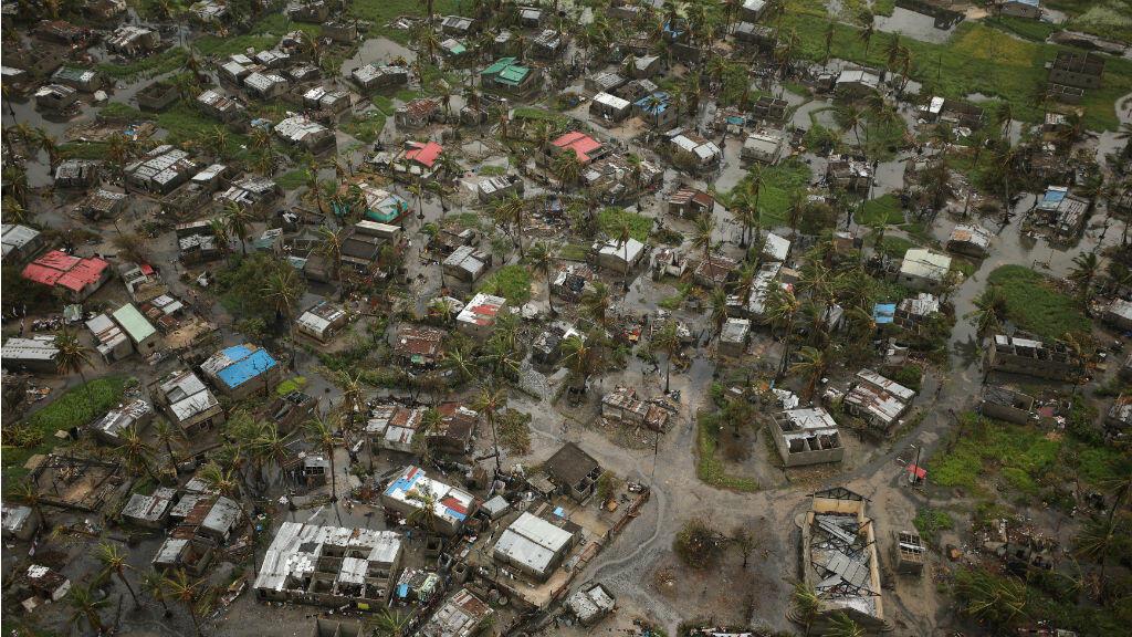 Así luce la ciudad de Beira después del ciclón Idai. 23 de marzo de 2019.