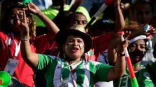 Une supportrice de Madagascar lors du match contre la RD Congo, le 7 juillet 2019 à Alexandrie