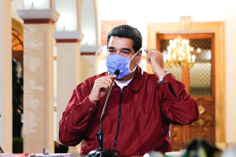 El presidente de Venezuela, Nicolás Maduro, el 13 de marzo de 2020 en Caracas