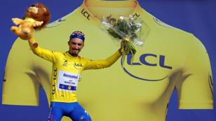 El ciclista francés, Julian Alaphilippe, esperó el momento adecuado para atacar y ganar la etapa el 8 de julio de 2019