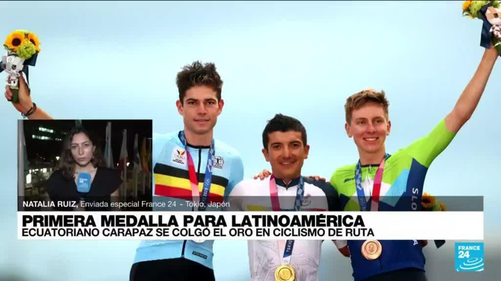 2021-07-24 22:08 Informe desde Tokio: Richard Carapaz se colgó la medalla dorada en ciclismo
