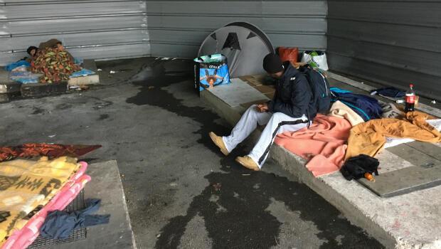 Refugees sleeping rough in Paris