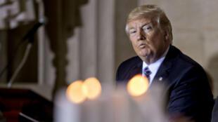 Donald Trump pendant une cérémonie à Washington le 25 avril 2017.