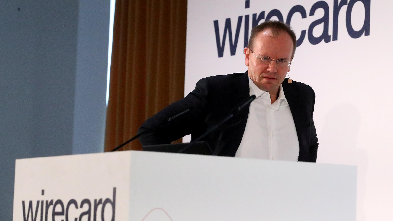 Markus Braun, CEO de Wirecard AG asiste a la conferencia anual de noticias de la compañía en Aschheim, cerca de Munich, Alemania, el 25 de abril de 2019.