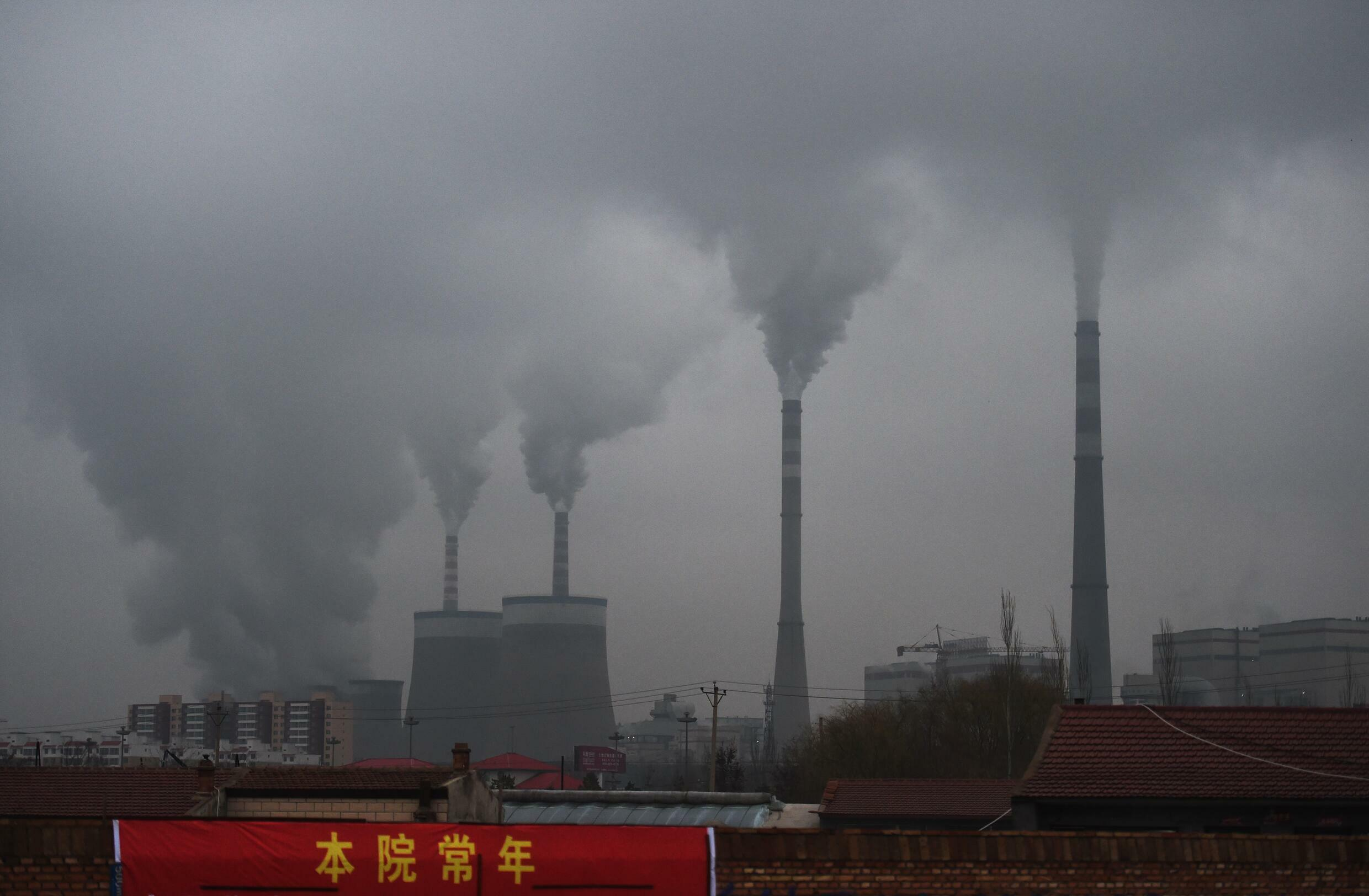 A coal-fired power plant near Datong, China's Shanxi Province on November 19, 2015