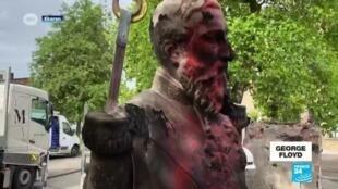 2020-06-10 14:21 Mort de George Floyd : les statues d'esclavagistes, cibles des manifestants