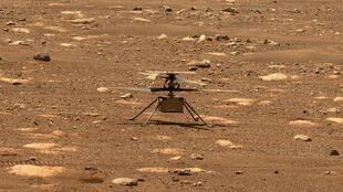 L'hélicoptère de la Nasa Ingenuity sur Mars le 7 avril 2021
