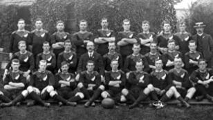 "L'équipe de Dave Gallaher ""The Original All Blacks"" en 1905"