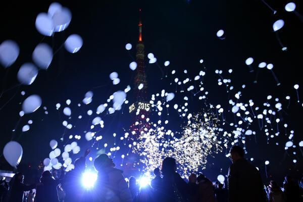 الاحتفالات برأس السنة في طوكيو