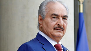 Khalifa Haftar in Paris, France, in May 2018 (file photo).