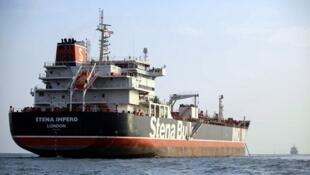 Le pétrolier Stena Impero ancré au large de la ville portuaire iranienne de Bandar Abbas, le 22 juillet 2019.