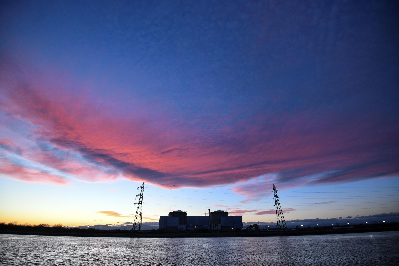 The sun sets on the Fessenheim nuclear power plant
