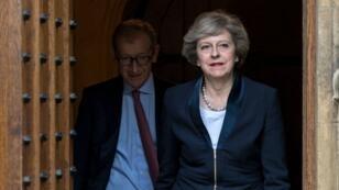 رئيسة الحكومة البريطانية تيريزا ماي، 27 حزيران/يونيو 2016.