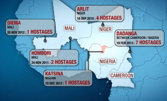 WHERE FRENCH NATIONALS HAVE BEEN ABDUCTED