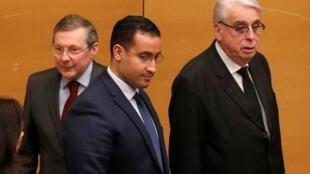 ألكسندر بينالا خلال مثوله أمام لجنة التحقيق بمجلس الشيوخ الفرنسي -21 يناير/ كانون الثاني 2019