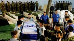 مراسم دفن العسكري الإسرائيلي زخاري باومل في القدس. 4 أبريل/نيسان.