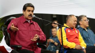 Le président vénézuélien Nicolas Maduro, le 2 août 2017 à Caracas.