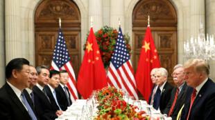 Los presidentes de China y Estados Unidos durante su cena en el marco de la Cumbre del G20 en Buenos Aires. 1 de diciembre de 2018.