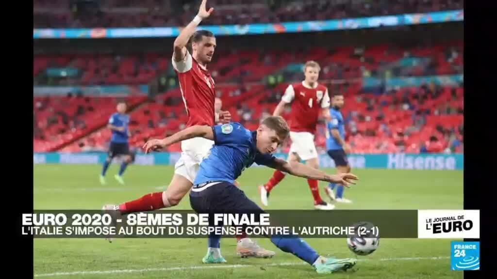 2021-06-26 23:46 EURO-2021 : L'Italie s'impose au bout du suspense 2-1 contre l'Autriche