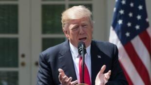 Donald Trump lors d'une conférence dans les jardins de la Maison blanche, le 5 avril 2017.