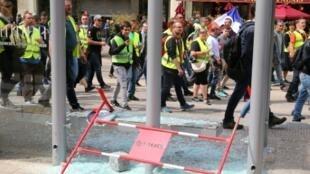 """Manifestation des """"gilets jaunes"""" à Reims, le 18 mai 2019"""