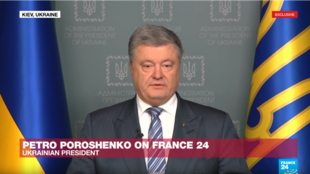 El presidente de Ucrania, Petró Porochenko, estuvo en entrevista exclusiva con France 24.