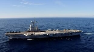The French aircraft carrier Charles de Gaulle, pictured off the coast of Toulon, France, on November 8, 2018.