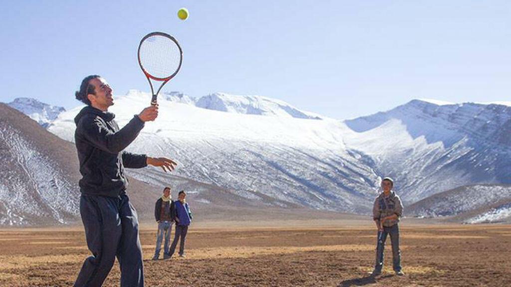 Le projet de Khalid Arazi vise à importer le tennis dans une zone reculée du Maroc.