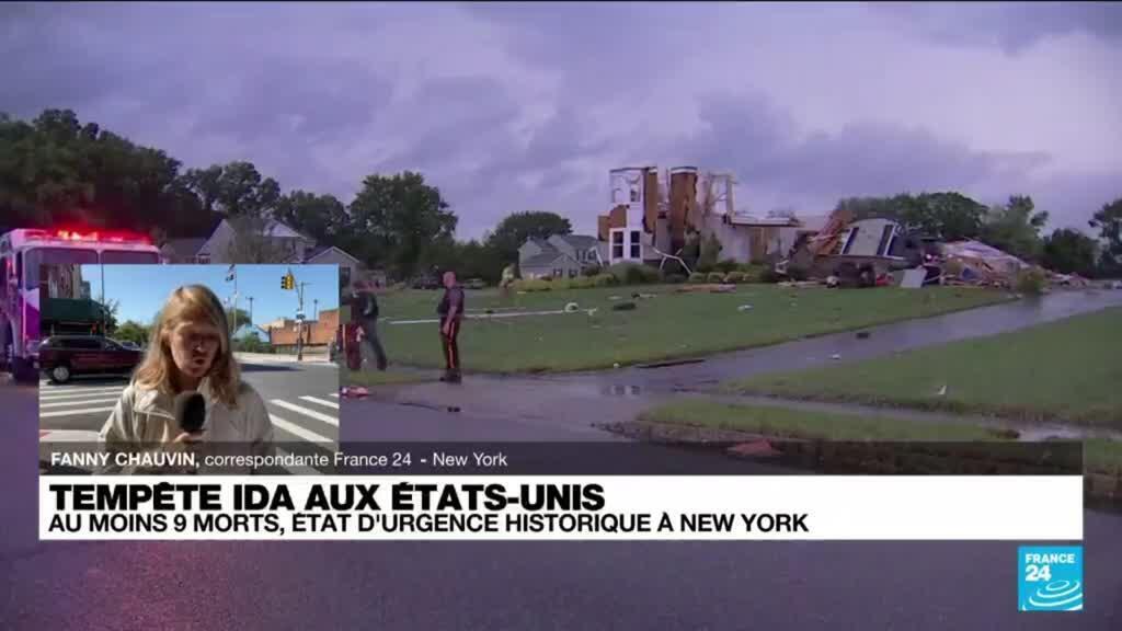 2021-09-02 16:05 Tempête Ida aux Etats-Unis : état d'urgence historique à New York