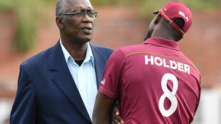 Past and present - Former West Indies fast bowler Joel Garner in conversation with current  captain Jason Holder