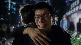 """Il y a six fois plus de Hongkongais qui présentent des signes de stress post-traumatique que lors du """"Mouvement des parapluies"""" en 2014."""